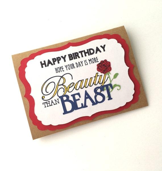 Beauty And The Beast Birthday Card Disney