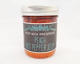 Peach Hot Pepper Jelly