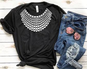 Ruth Bader Ginsburg shirt , rbg , Dissent collar , Jabot collar t shirt , Feminist shirt , Equality shirt , Equal right , Halloween rbg