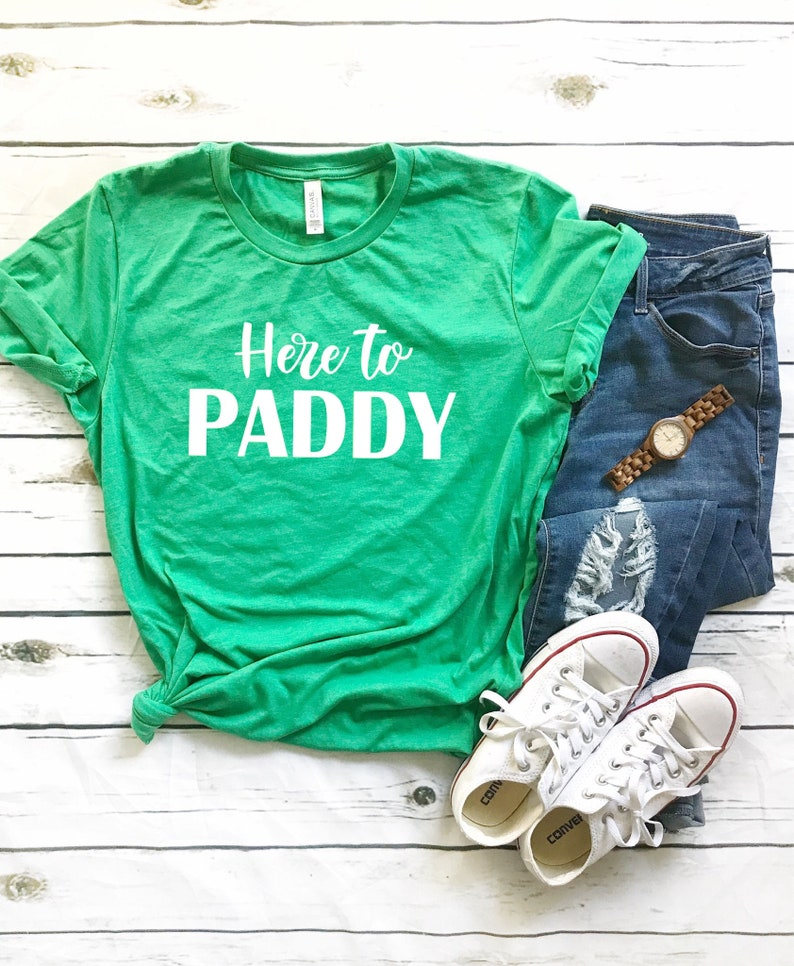 93ebad55 Funny st Patrick's day shirt women Here to paddy | Etsy