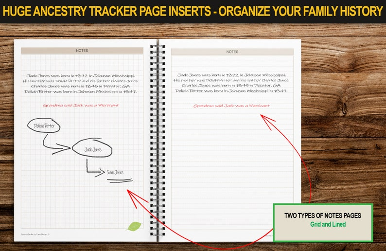 Ancestry Tracker | A4 PAPER SIZE | Genealogy Planner Inserts | Printable  with Family Tree Pages, Organizer, To Find List and Much More
