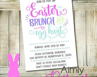 Easter Brunch and Egg Hunt Invitation