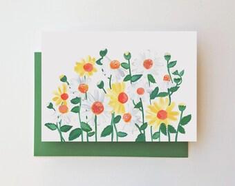 No Gerbera Daisy Handmade Note Cards BLANK INSIDE 1153 Gerbera Daisy