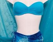 Vintage Bright Aqua 2 Piece Bathing Suit by Victoria s Secret and Waist Wrap