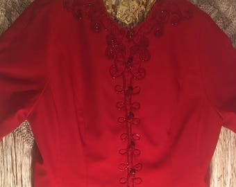 """PLUS SIZE ( 20)""""Red Blaze""""Evening Jacket /by St Anthony (NOT Eligible for Free Shipping May)"""