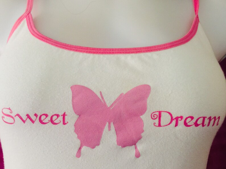 2Pc Candy Pink Jersey shorts with Sweet Dreams Tank Top