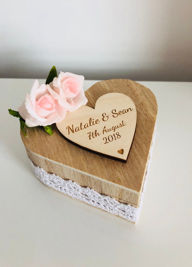 Personalised Wedding Ring Box Wedding Gift Bride /& Groom Personalised Ring Box Ring Bearer Box Wedding Accessories Romantic Proposal
