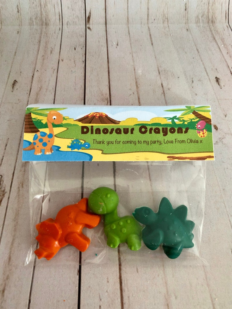 023f453898c2e Dinosaur Crayons, Dinosaur Party Bag Gift, Dino Party, Stocking Filler,  Handmade Crayons, Party Favours, Pass The Parcel