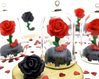 Beauty and The Beast. Necklace ROSE