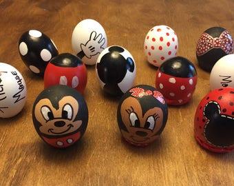 Hand Painted Mickey & Minnie Cascarones-1 dozen