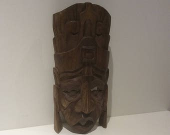South American wooden carved mask