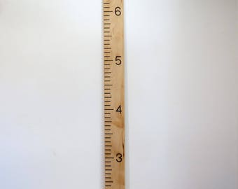 Maple growth ruler, Growth chart, Wood ruler, Kids growth chart, Engraved hardwood ruler, Baby shower gift, Personalized ruler, Maple ruler