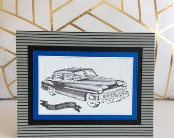 Handmade Classic Car Birthday Card Cars For Him Gifts Lover