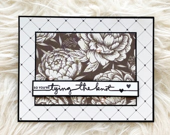 So You're Tying The Knot Handmade Engagement Card, Handmade Congratulations Card, Happy Engagement,