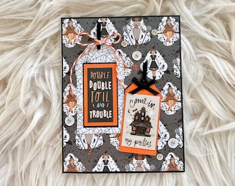 Double Double Toil And Trouble Handmade Halloween Card