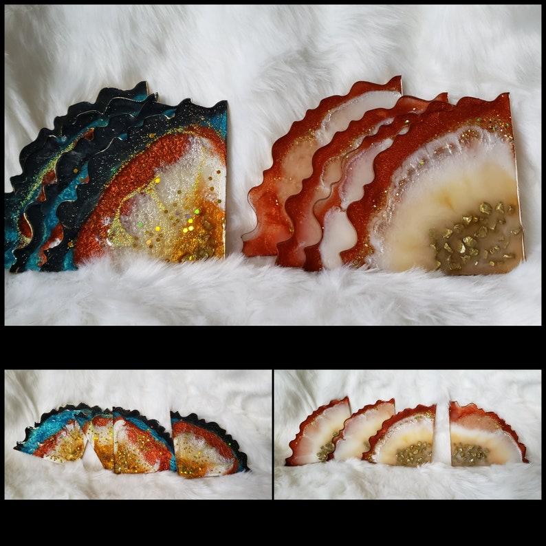Resin Coasters Geode Coasters Agate Slice Coasters Home Decor Drink Coasters