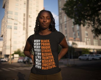 Melanin Black Pride Uplifting Words Black History Short-Sleeve Unisex T-Shirt By Oheneba Apparel
