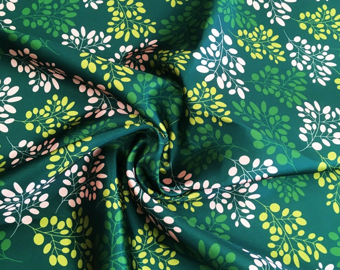 Sea grass pattern printed onto Satin fabric, fat quarter piece, design by Susyrdesign, for makers, sewing project, quilting, one off, soft