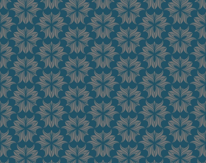 ABSTRACT FLORAL seamless pattern - digital paper, instant download, A4 size, JPG file x 1, digital drawing, blue and grey colours