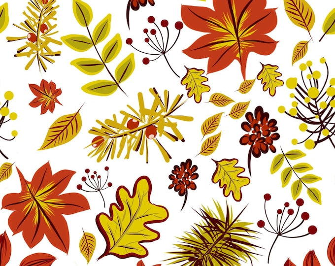 AUTUMN LEAVES - digital paper, instant download, A4 size page, JPG file x 1, hand drawn