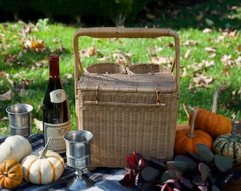 1950's French Picnic Basket
