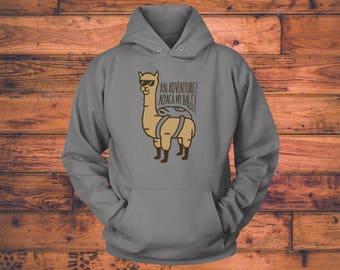 Alpaca Hoodie Etsy