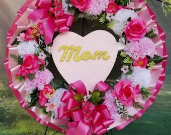 Wet Flower Memorial Display Wreath Plastic Hoop Back Oasis Funeral Foam Ring