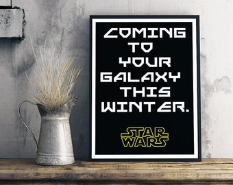 coming to your galaxy this winter star wars plakat star wars poster star wars digital poster design poster design text star wars