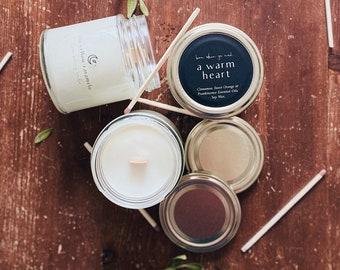 WARM HEART | Cinnamon, Sweet Orange, Frankincense Essential Oils | Oriental Aroma | Vegan Candle | Minimalist Decor