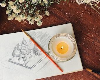 SWEET ORANGE & GRAPEFRUIT | Aromatherapy Soy Candle | Creative Thinking | Mood Lifting | Gift for Student | Eco-Friendly Gift