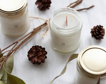HOME COMFORTS | Scented Soy Candle | Vanilla, Cinnamon, Sweet Orange | Balsam Aroma | Hygge | Eco-Friendly Gift | Vegan Gift