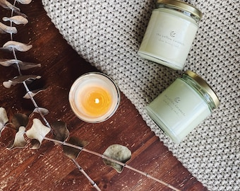 PEACE OF MIND | Lavender, Cedarwood & Rosemary | Aromatherapy Soy Candle | Aromatic Scent| Tranquility| Meditation | Eco-Friendly