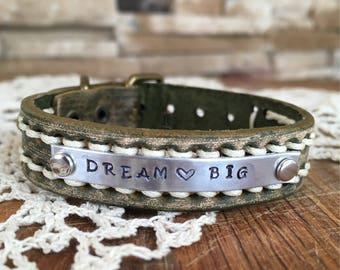 Leather Dream Big bracelet watchband adjustable rustic