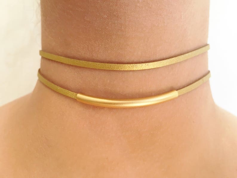Suede Choker Necklace Thin Suede Choker Gold Suede Choker Boho Suede Choker Double Suede Choker Choker Necklace