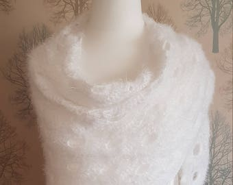 Crocheted Shawl - White