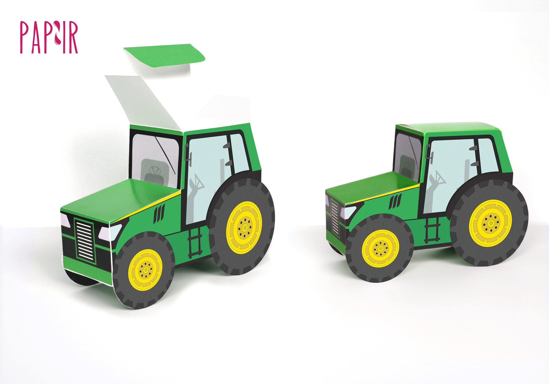 PRINTABLE Green Tractor Box Tractor Birthday John Deere