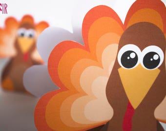Thanksgiving Printable | turkey box, treats box, candy box, Thanksgiving box, turkey day, thankful, holidays, Thanksgiving games, gift box