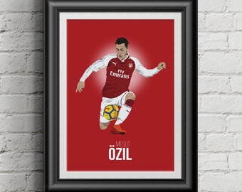 867447bc3 Mesut Ozil Arsenal Illustrated A3 Poster