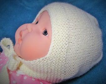Unisex baby Hat 6-12 months/ivory/off white/boy/girl/boy/girl