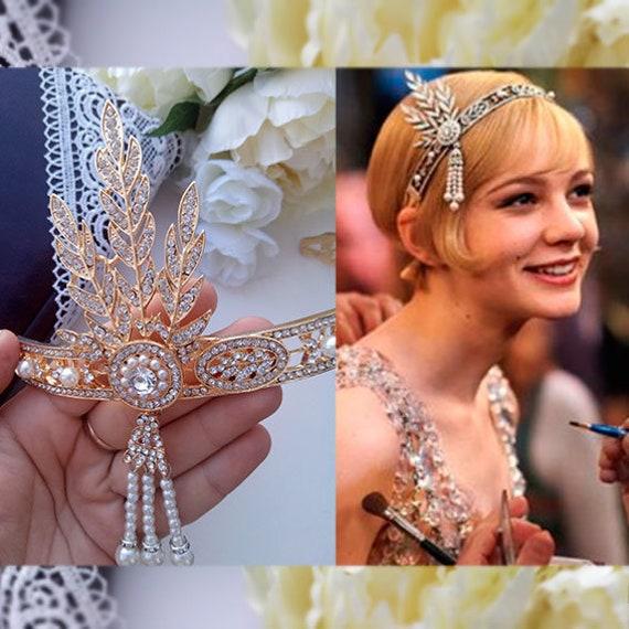 Gold Flapper 1920s Gatsby HeadbandGreat gatsby headpiece  c9d27b60a10