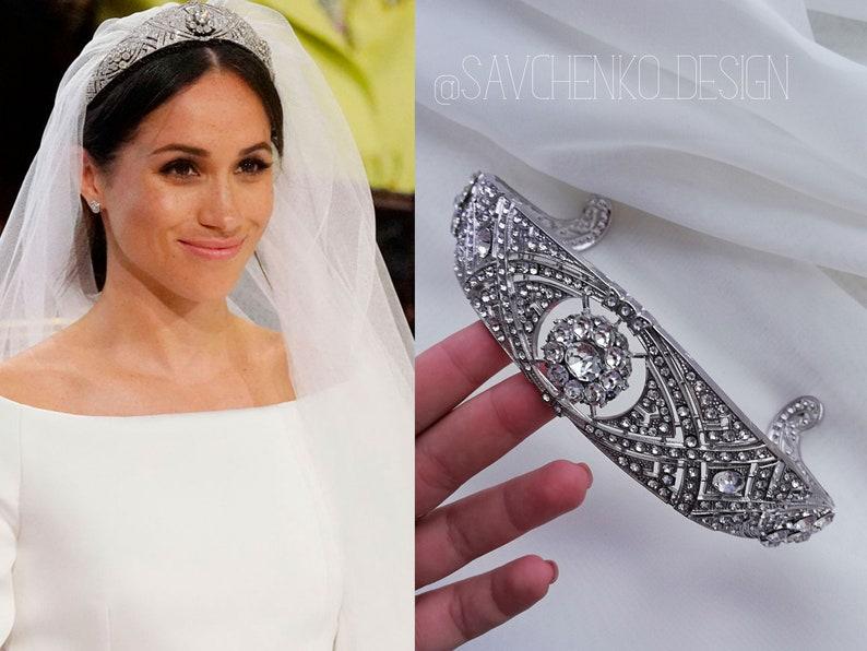 592de52b43d84 Meghan Markle's crystal wedding tiara replica royal | Etsy