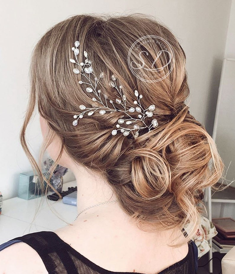 Bridal hair vine Beach wedding Wedding hair