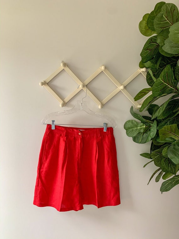 Vintage 1980's Pleated High-Waist Shorts