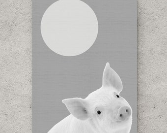 Pig print, instant download printable art, digital download art, digital wall art, large poster, wall art, piggy prints, pig art, printable