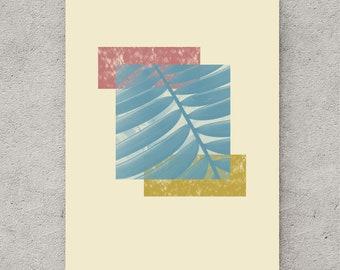 Foliage, printable poster, nursery printable, modern minimalist, wall art printable, nursery decor, leaf print, tropical decor, leaf art