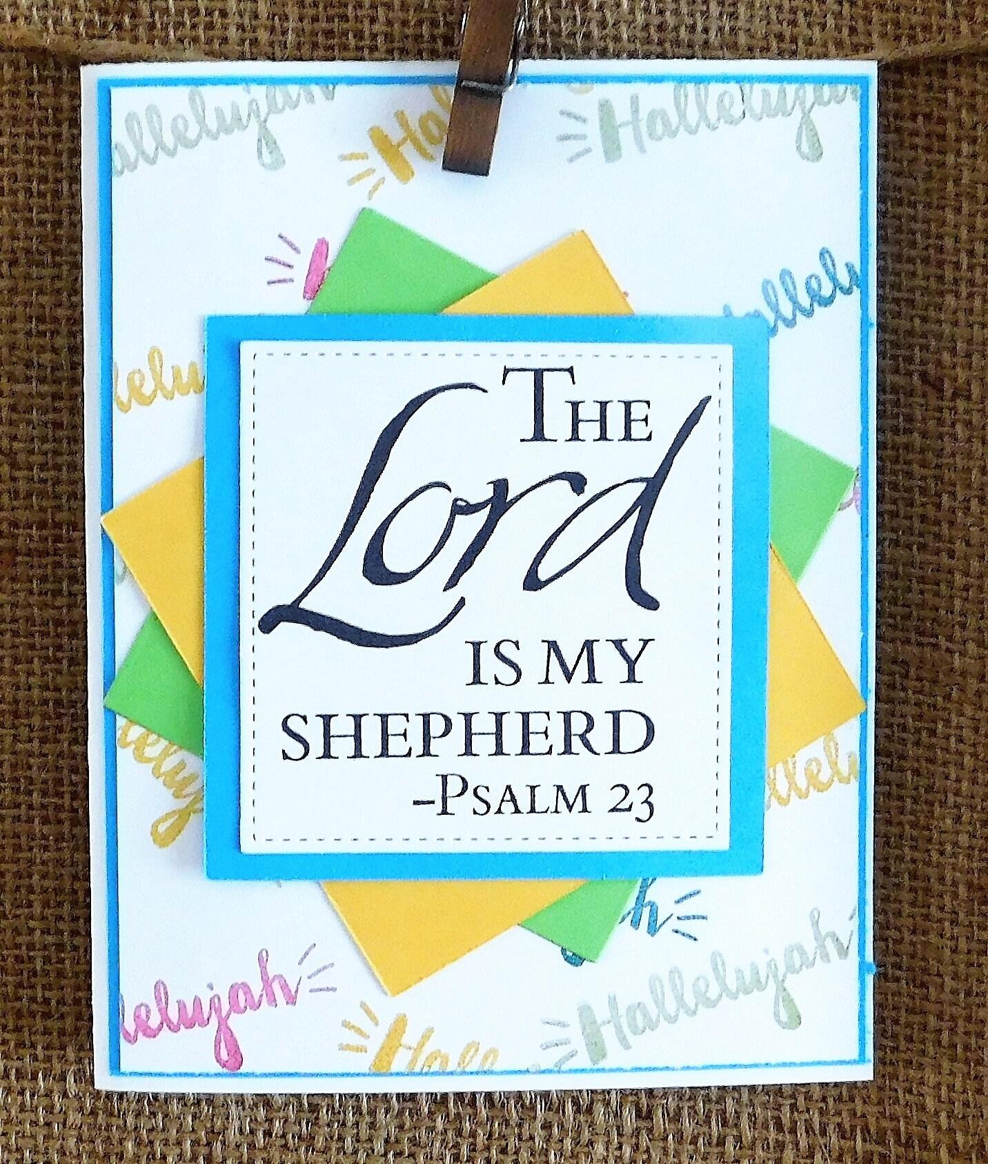 Happy Birthday Homemade Greeting Card Scripture Verse Bold Etsy