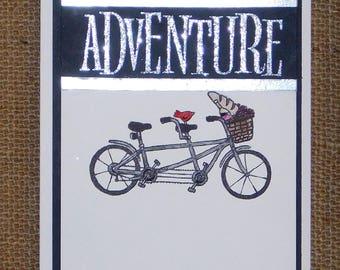 Stampin up Homemade Adventure Tandem Bike