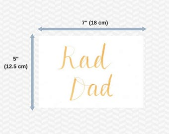 Fathers day cards | Digital | Printable cards | Brush lettering | Brush calligraphy | Handwritten | Set of 6