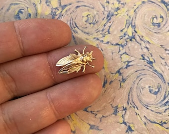 Vintage French Brass Stamping/Antique Style/Fly/Insect/French Findings
