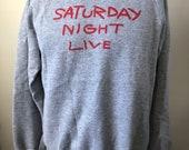 Rare Saturday Night Live Crewneck Sweatshirt L 80 s